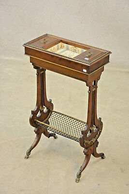 Antique Napoleon III Sewing working table  wood carved 1850