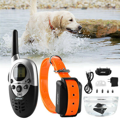 1000 Yards  Rechargeable Electric Dog Shock Collar LCD Remote Trainer Waterproof