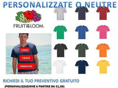 t-shirt uomo fruit of the loom Original  scollo V-T cotone personalizzabile