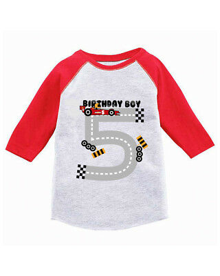 Birthday Boy Toddler Raglan Race Car Party For Boys 5th Jersey