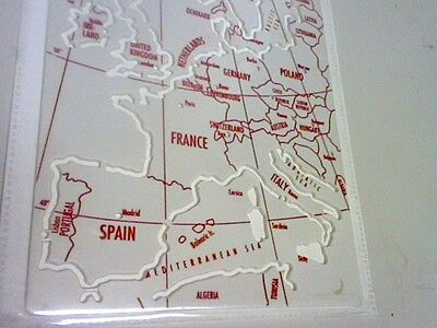 Europe Map Stencil Helix Collectables H89 - Made In England -Free Postage
