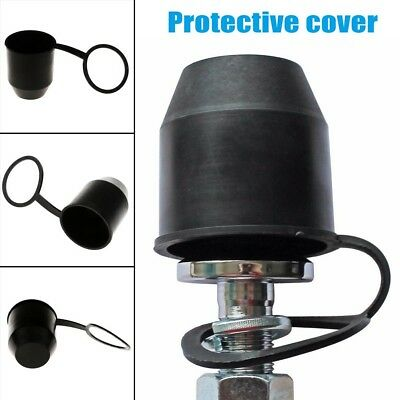 1Pc Black Tow Bar Ball Cover Cap Car Towing Hitch Towball Trailer Protection Cap