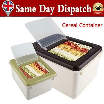Plastic Dry Food Cereal Pasta Flour Dried Food Nut Storage Bin Rice Container UK