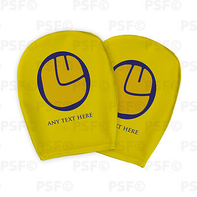 Leeds United FC Official Custom LUFC Smiley Yellow Car Head Rest Cover LHR008
