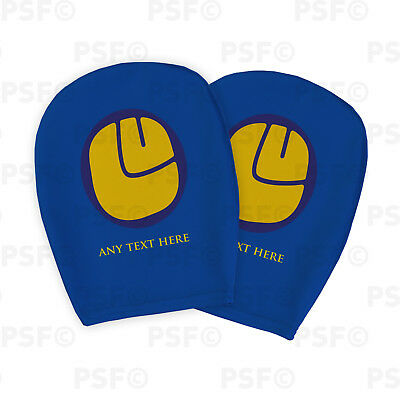 Leeds United FC Official Custom LUFC Smiley Blue Car Head Rest Cover LHR009