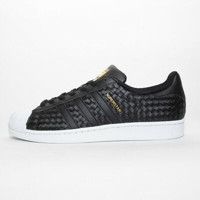 MENS ADIDAS SUPERSTAR Weave Black/White Trainers