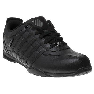 New MENS K-SWISS BLACK ARVEE 1.5 LEATHER Sneakers Mono