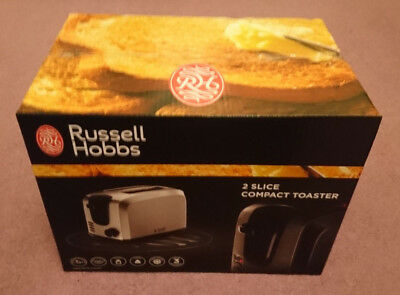 Russell Hobbs 2 Slice Compact Toaster 20880 Stainless Steel