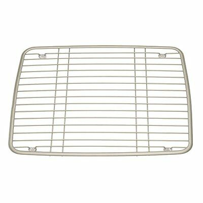 InterDesign Axis Sink Protector, Metal Dish Drainer Grid for Kitchen Sinks, Sati