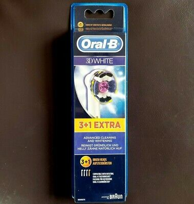 Oral B 3D White - Electric Toothbrush Replacement Heads - 3 Pack - Uk Seller