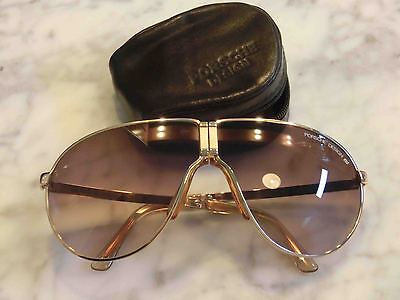 1ed65ae780f Sunglasses CARRERA PORSCHE DESIGN 5622 NEW Folding GOLD PLATED!!! Vintage
