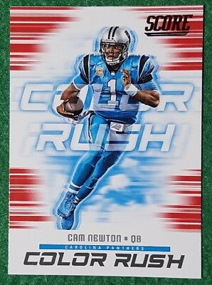 uk availability dc9ef 8977f 2018 SCORE COLOR Rush Red Parallel, Cam Newton, Carolina ...