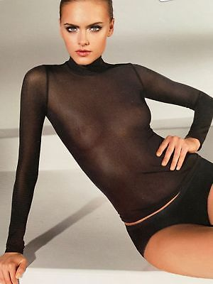 Wolford AMSTERDAM PULLOVER Black Size: M (uk14-16). rrp: £125