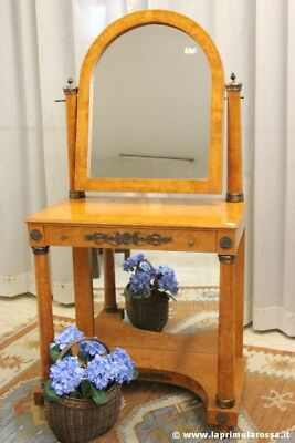 Toeletta D'epoca In Radica Toilette Francese Stile Impero Old Dressing Table