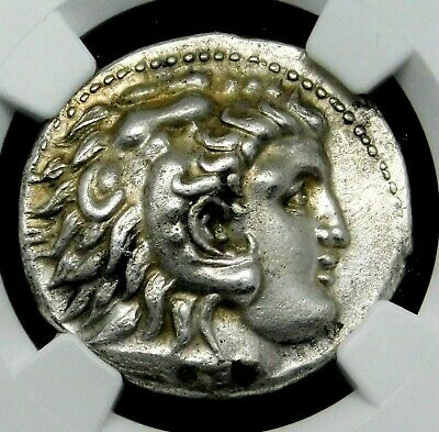 NGC AU 5/5-3/5. Alexander the Great. Stunning Tetradrachm. Greek Silver Coin.