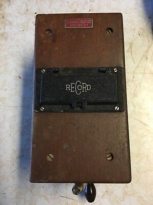 Vintage Record Electrical Co. Ohm- Megohm Meter Herman H. Sticht Co