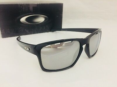 NEW OAKLEY SLIVER VENTED SUNGLASSES Polished Black / Chrome Iridium