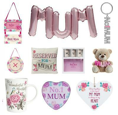 Mothers Day Gift Love Mum Badge Teddy Cup Balloon Mirror Trophy Keyring Frame