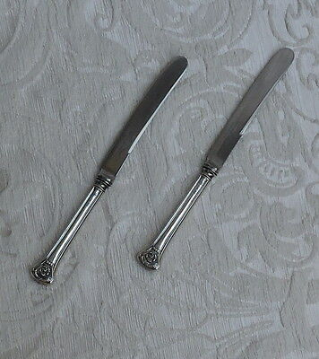 Pair of Afternoon Tea Solid Silver Butter Knives Cooper Bros., Sheffield 1922