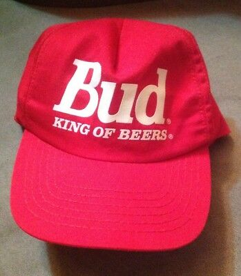 068e5b7a15e Vintage Budweiser Bud King Of Beers Trucker Hat Snap back Cap USA  Stylemaster
