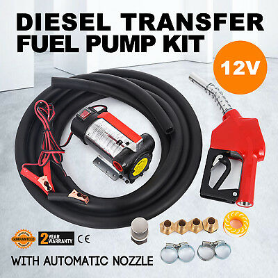 AC 12V Metering Diesel Transfer Fuel Pump Kit Speed Suction Wall Mounted