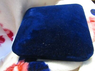 Antique Victorian Blue Velvet Jewelers Necklace Box Large And Deep