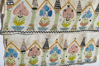 ANTIQUE 19th CENTURY OTTOMAN TURKISH ARMENIAN YAGLIK EMBROIDERY TEXTILE