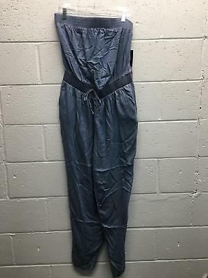 3b5cf9c86939 Womens Fashion Nova Steamy Chambray Jumpsuit Size XL Light Wash Polyester