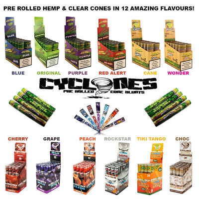 Cyclones / Pre-Rolled Cones / 30+ Flavours / Pre-Made Smoking Papers Rizla OCB