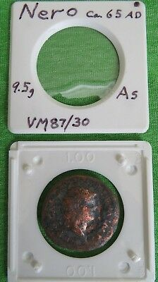 NERO Closes Doors to TEMPLE of JANUS for PEACE 65AD Ancient Roman Coin As