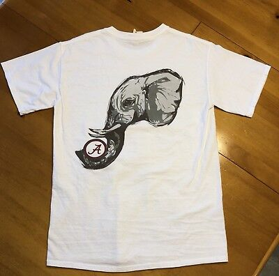 The University of Alabama Comfort Colors Big Al Elephant White Shirt Size  Small 8c600f8cb