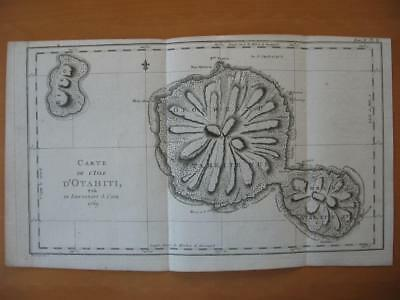 1774 - COOK -  Map TAHITI