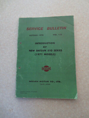 1971 Datsun 510 series car design & specifications information booklet