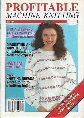 Vintage Profitable Machine Knitting - July 1991 and Riverhart Children's Pattern