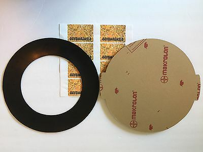 """Clear Polycarbonate 14"""" Round Vacuum Chamber Lid With Seal  No Attachments"""
