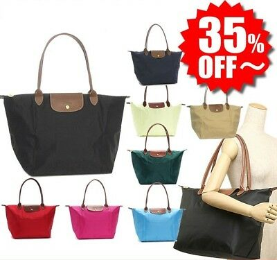 f50aa4807b1e Longchamp Le Pliage Regular 1899 Nylon Tote Handbag Shopping Bag Sz Small  Large