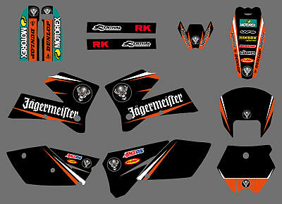 Background Graphics Stickers Decals Deco Full Kit For KTM 125 200 SX 2005 2006