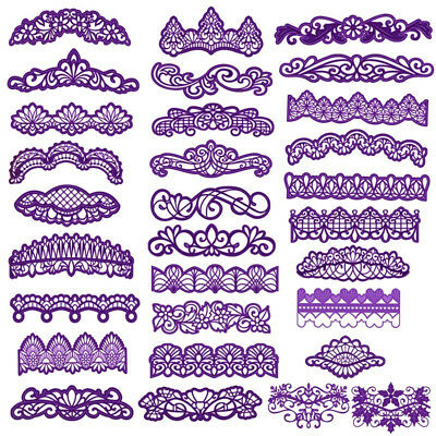 Flower Edge Border Cutting Dies Frame DIY Scrapbooking Craft Album Card Stencils