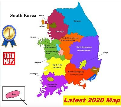 South Korea Map 2019 for Garmin GPSs