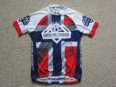 Voler Horribly Hilly Hundreds Men s Cycling Short Sleeve Jersey Size Large  USA f4507731d