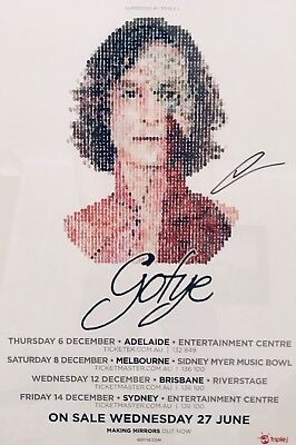 Gotye Signed Autographed 2012 Australian Tour Poster - FREE SHIPPING