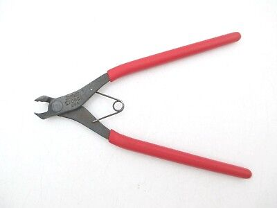 "SNAP ON Flush Cut Electronic Wire Cutters 6"" Long Red Soft Grip Handle - E706CG"