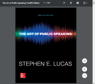 The Art of Public Speaking (Communication) 12th Edition by Stephen E Lucas