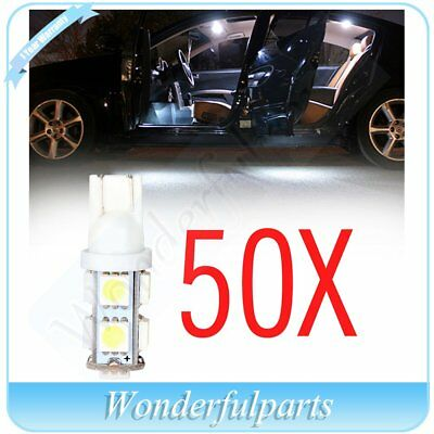 50X T10 9 SMD LED 5050 194 168 W5W Side Wedge Tail Light Car Lamp Bulbs DC 12V