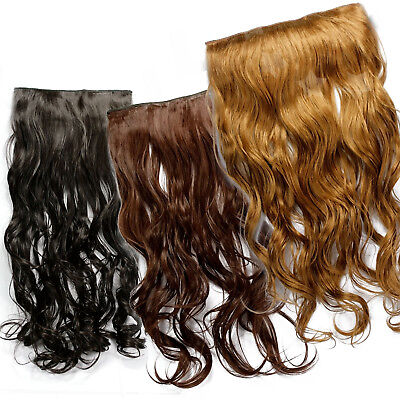 """20"""" Blonde Extension Hair Piece 5 Pieces Long  Wavy Clip in Hairpiece"""