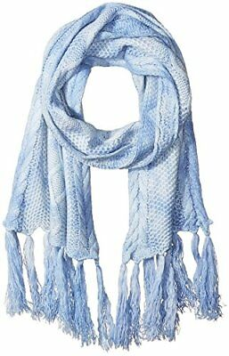 BCBGeneration Women/'s Cap Scarf All in the Details Wave Blue Tie Dye Rayon $28