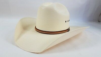 Justin Boots Milano Hat Co 10X Premium Straw   Leather Cowboy Western Hat 7  ... 0e433a7a65b4