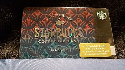 Starbucks Gift Card 2018 NEW Siren Scales Coffee 1971 Cheer Holiday No $ Value
