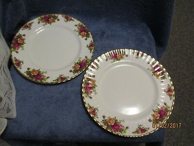 Royal Albert Old Country Roses England 1962 Dinner Plate Set of 2 GORGEOUS !