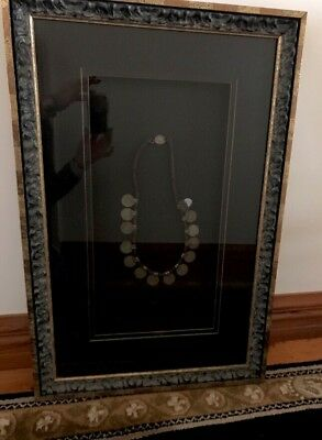 Antique Rajastan CoinNecklace - Framed